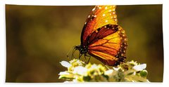Butterfly In Sun Bath Towel