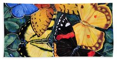 Butterfly Kisses Bath Towel by Gail Butler