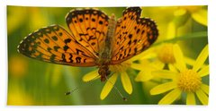 Hand Towel featuring the photograph Butterfly by James Peterson