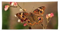 Butterfly On Pink Hand Towel