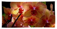 Bath Towel featuring the photograph Butterfly Orchids by Rodney Lee Williams