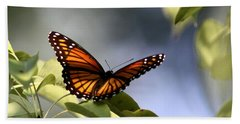 Butterfly -  Soaking Up The Sun Hand Towel by Travis Truelove