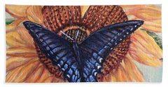 Butterfly Sunday Up-close Hand Towel