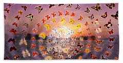 Butterfly Sunset Hand Towel