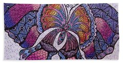 Butterfly Tangle Bath Towel by Megan Walsh