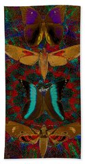 Solar Butterfly Bath Towel