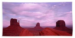 Buttes At Sunset, The Mittens, Merrick Bath Towel