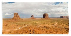 Buttes In A Desert, The Mittens Bath Towel