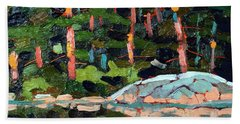 Buzzard Lake Sunset Shore Bath Towel