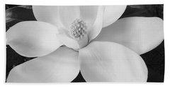 B W Magnolia Blossom Bath Towel by D Hackett