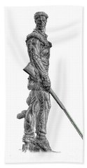 Bw Of Mountaineer Statue Hand Towel