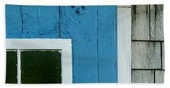 Old Door In Blue Bath Towel
