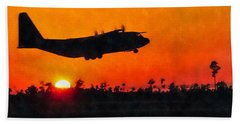 C-130 Sunset Bath Towel