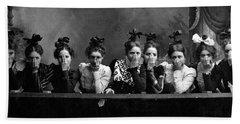 Hand Towel featuring the photograph C. 1890 American Girls by Historic Image