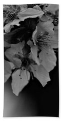 Cab Apple Blossoms In Black N White Bath Towel