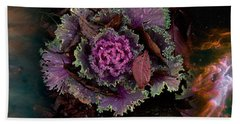 Cabbage With Butterfly Nebula Hand Towel by Panoramic Images