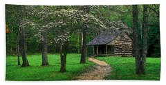 Bath Towel featuring the photograph Cabin In Cades Cove by Rodney Lee Williams