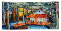 Cabin In The Swamp Hand Towel
