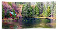 Cabin On The Lake Hand Towel