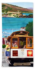 Cable Car No. 17 Bath Towel by Mike Robles