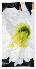 Cactus Flower II Bath Towel by Mike Robles