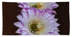 Cactus Flowers Bath Towel by Pamela Walton