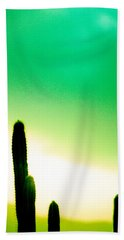 Cactus In The Morning Bath Towel