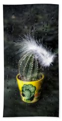 Cactus With Feather Hand Towel