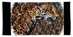 Caged Jaguar Bath Towel