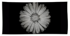 Hand Towel featuring the photograph Calendula Flower - Textured Version by Laura Melis