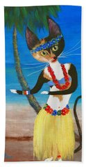 Calico Hula Queen Hand Towel
