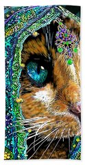 Calico Indian Bride Cats In Hats Hand Towel