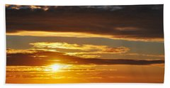 Bath Towel featuring the photograph California Central Coast Sunset by Kyle Hanson