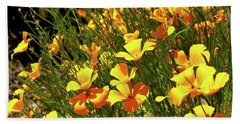 California Poppies Hand Towel by Ed  Riche