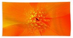 California Poppy Hand Towel by Julia Ivanovna Willhite