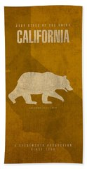 California State Facts Minimalist Movie Poster Art  Hand Towel