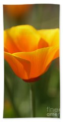 Hand Towel featuring the photograph Californian Poppy by Joy Watson