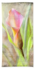 Calla Lily In Pink Bath Towel
