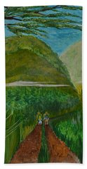 Hand Towel featuring the painting Called To The Mission Field by Cassie Sears