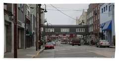 Calm Morning At Monterey Cannery Row California 5d24761 Bath Towel