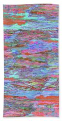 Hand Towel featuring the digital art Calmer Waters by Stephanie Grant