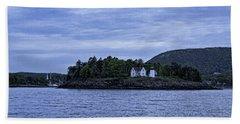Camden Twilight N Curtis Island Light House Hand Towel by Daniel Hebard