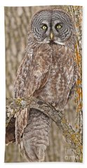 Bath Towel featuring the photograph Camouflage-an Owl's Best Friend by Heather King