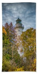 Cana Island Lighthouse II By Paul Freidlund Bath Towel