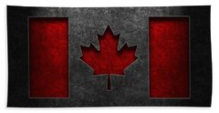 Canadian Flag Stone Texture Hand Towel