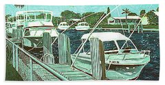Canal At Pompano Hand Towel