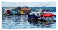Canandaigua Fishing Shacks Bath Towel