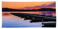 Candlewood Lake Hand Towel by Bill Wakeley