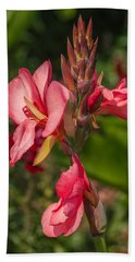 Canna Lily Hand Towel by Jane Luxton