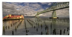 Cannery Pier Hotel And Astoria Bridge Bath Towel